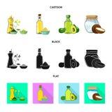 Ilustração do vetor do sinal saudável e vegetal Coleção da ilustração conservada em estoque saudável e da agricultura do vetor ilustração stock