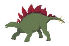 Ilustração do vetor do Stegosaurus isolada no fundo branco imagem de stock royalty free