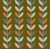 Ilustração do vetor do teste padrão sem emenda das folhas geométricas ilustração do vetor