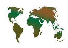 Ilustração do vetor um cartão do globo ilustração royalty free