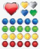 Ilustração do vetor, um grupo de botões Fotos de Stock