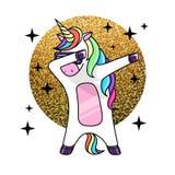 Ilustração do vetor do unicórnio de toque ligeiro do cavalo da fantasia ilustração stock