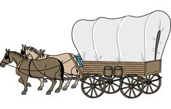 Ilustração do vetor do vagão coberto ilustração stock