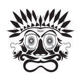 ilustração do vetor do vintage da máscara ilustração royalty free