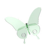 Ilustração do vidro da borboleta ilustração stock
