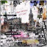 Ilustração do vintage das vistas de Dresden ilustração royalty free