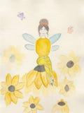 Ilustração do Watercolour de uma fada Fotos de Stock