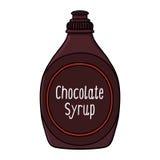 Ilustração do xarope de chocolate Fotografia de Stock Royalty Free