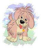 Ilustração doce do cão Foto de Stock
