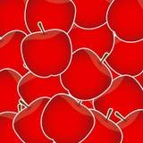 Ilustração doce do vetor do fundo das maçãs Ilustração do Vetor