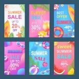 Ilustração doce do vetor do grupo do verão da melhor oferta ilustração stock