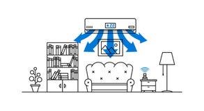 Ilustração doméstica do vetor do condicionador de ar Fotografia de Stock