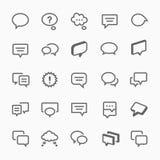 Ilustração dos ícones da bolha da conversa. Foto de Stock