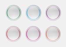 Ilustração dos ícones da bolha da Web Imagens de Stock