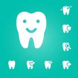 Ilustração dos ícones dentais ajustados Foto de Stock