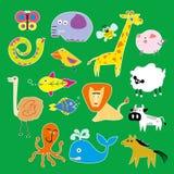Ilustração dos animais do jardim zoológico ilustração do vetor