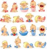 Ilustração dos bebês e dos bebês, vetor Foto de Stock