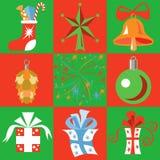 Ilustração dos brinquedos e dos presentes do Natal Fotos de Stock