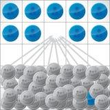 Ilustração dos candidatos que competem para o trabalho Imagens de Stock Royalty Free