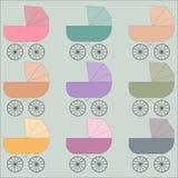 Ilustração dos carrinhos de criança Imagem de Stock