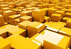 Ilustração dos cubos como um backround Fotografia de Stock