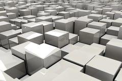 Ilustração dos cubos no backround Imagem de Stock