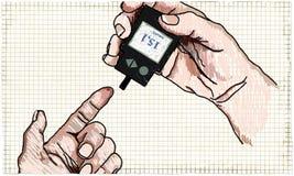 Ilustração dos cuidados médicos sobre o diabetes ilustração stock
