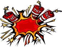 Ilustração dos desenhos animados da explosão da dinamite Foto de Stock Royalty Free