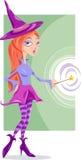 Ilustração dos desenhos animados da fantasia da bruxa ou da fada Fotos de Stock Royalty Free