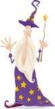 Ilustração dos desenhos animados da fantasia do feiticeiro Fotos de Stock Royalty Free