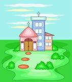 Ilustração dos desenhos animados da igreja ilustração stock