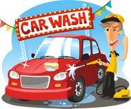 Ilustração dos desenhos animados da lavagem de carros Fotografia de Stock