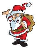 Ilustração dos desenhos animados de Santa imagem de stock