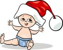 Ilustração dos desenhos animados de Santa do bebê Fotos de Stock Royalty Free
