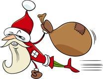 Ilustração dos desenhos animados de Santa do super-herói Fotos de Stock