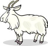 Ilustração dos desenhos animados do animal de exploração agrícola da cabra Foto de Stock