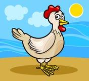 Ilustração dos desenhos animados do animal de exploração agrícola da galinha Imagens de Stock