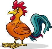 Ilustração dos desenhos animados do animal de exploração agrícola do galo Foto de Stock Royalty Free
