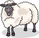 Ilustração dos desenhos animados do animal de exploração agrícola dos carneiros Fotografia de Stock Royalty Free