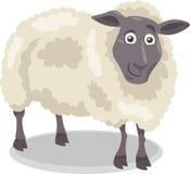 Ilustração dos desenhos animados do animal de exploração agrícola dos carneiros Fotos de Stock Royalty Free