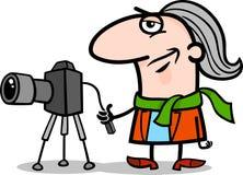 Ilustração dos desenhos animados do artista do fotógrafo ilustração royalty free