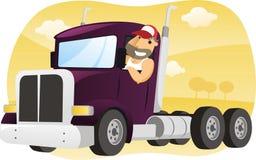 Ilustração dos desenhos animados do caminhão ilustração stock