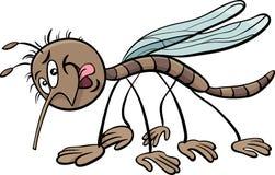 Ilustração dos desenhos animados do caráter do mosquito ilustração stock