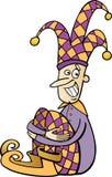 Ilustração dos desenhos animados do clipart do bobo da corte Fotos de Stock Royalty Free