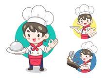 ilustração dos desenhos animados do cozinheiro chefe ilustração do vetor
