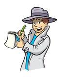 Ilustração dos desenhos animados do detetive Imagens de Stock Royalty Free