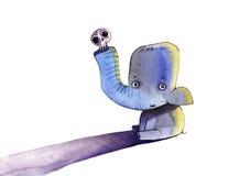 Ilustração dos desenhos animados do elefante Fotografia de Stock Royalty Free