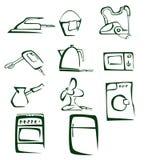 Ilustração dos desenhos animados do equipamento da casa Foto de Stock Royalty Free