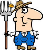 Ilustração dos desenhos animados do fazendeiro Imagens de Stock Royalty Free