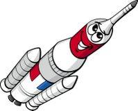 Ilustração dos desenhos animados do foguete de espaço Foto de Stock